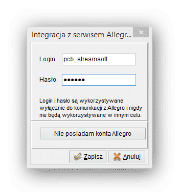 Integracja Z Allegro Pl Streamsoft Pcbiznes Aga Ala Ewa