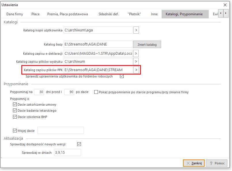 Katalog zapisu pliku XML
