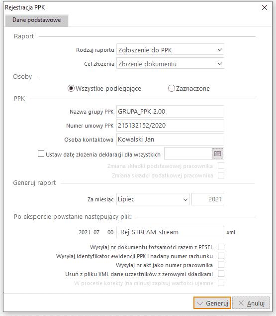 Rejestracja PPK